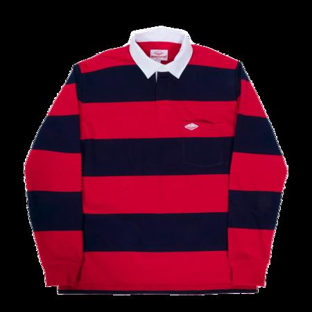 Battenwear Pocket Rugby Shirt - Navy/Dark Red