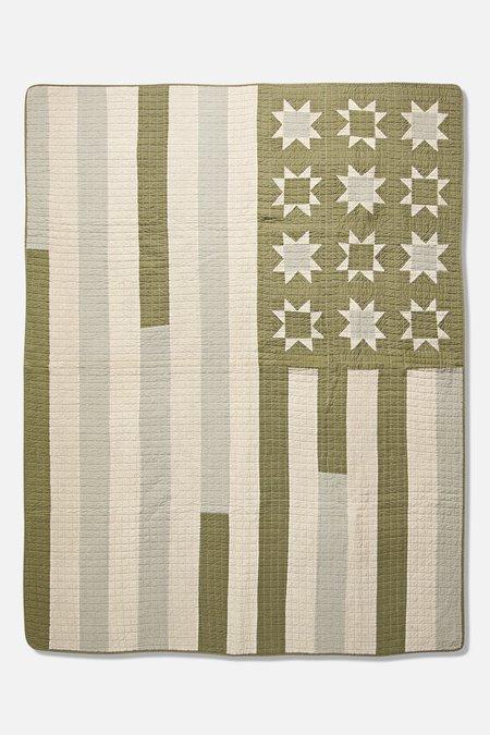 BasShu Patchwork Quilt - Khaki