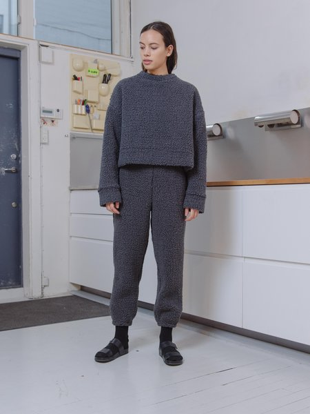 Priory Shop Sherpa Wen Pant - Smoke