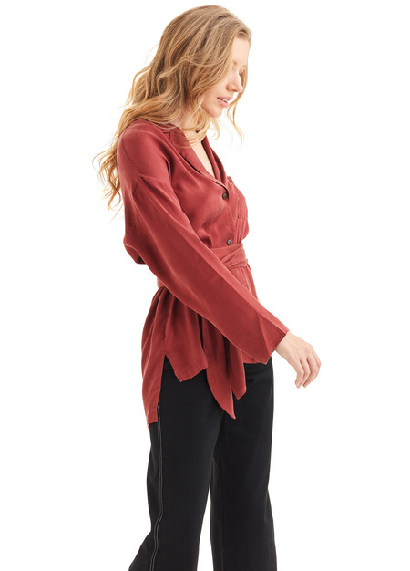 Mara Hoffman Eleanor Shirt - Rust