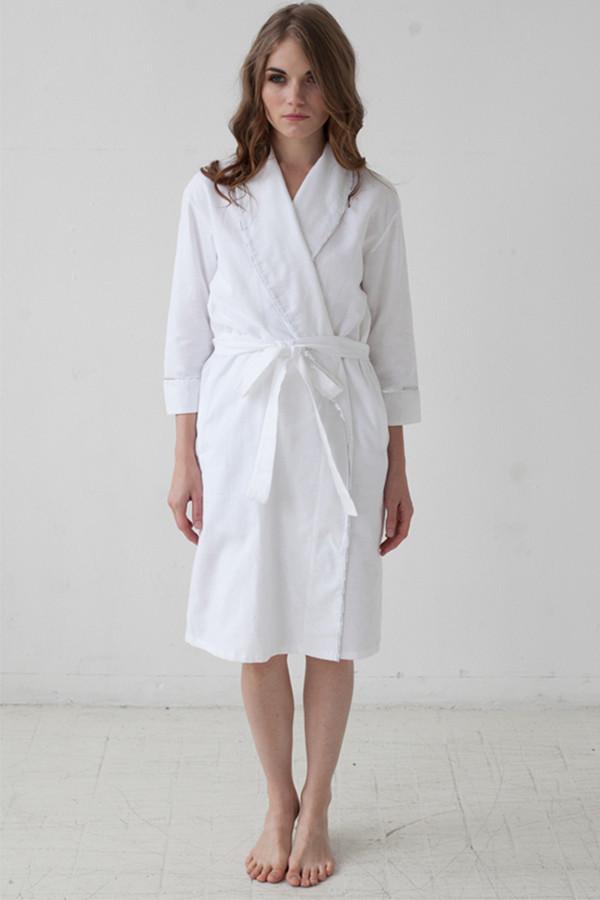 """Salua Atelier Classic Flannel Robe 36"""""""