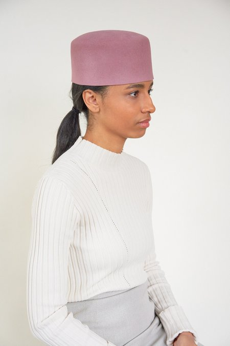 Clyde Fez Angora Hat - Rose