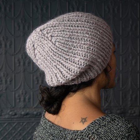 Pamela Mayer Chunky Simple Hat - Lilac