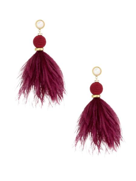 Lizzie Fortunato Parker Earrings - Burgundy