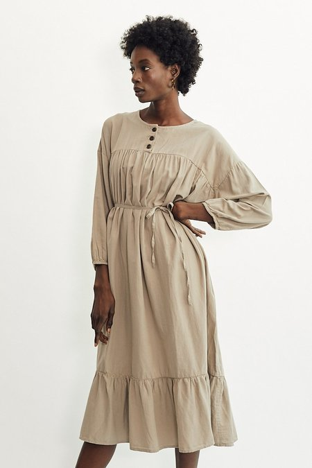 Revisited Matters Nathalie Dress - Taupe