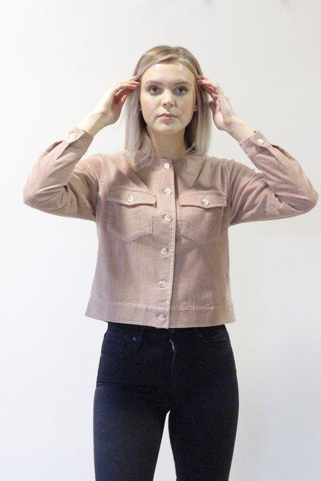 Sunad Uluru Bomber Cord Shirt/Coat - Nude