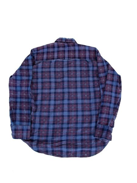 Needles Ribbon Flannel - Blue