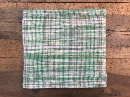 Auntie Oti Cotton Lungi Shawl - Apple Green