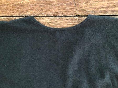 Black Crane Gathered Top - Dark Grey