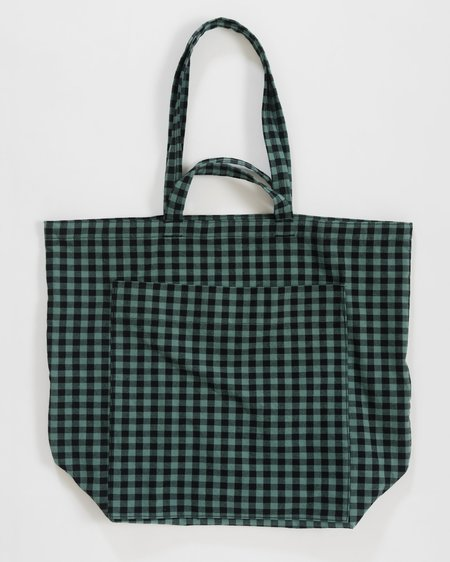 Easy Tiger Goods Giant Pocket Tote - Green Gingham