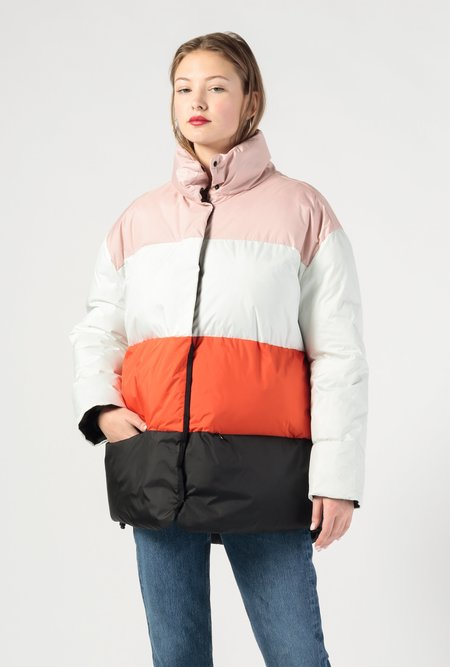 Biannual Color Block Puffer Jacket