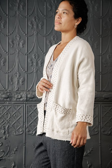 Christi Johnson Organic Cotton Cardi - Ecru