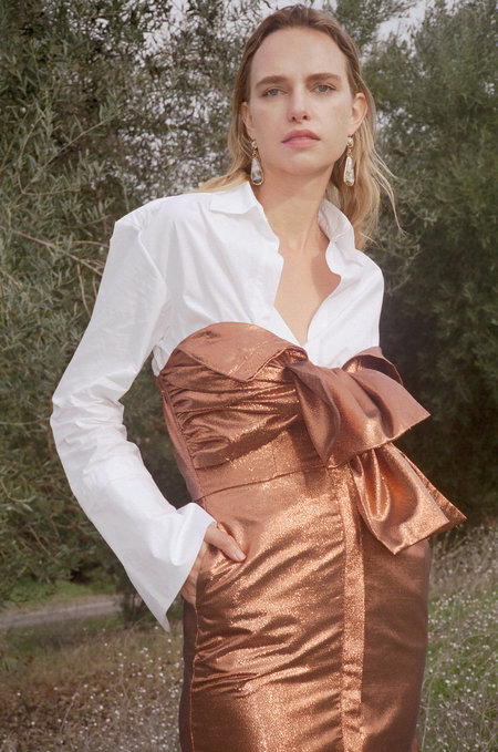 Kamperett Vuelo Jaquard Dress - Copper