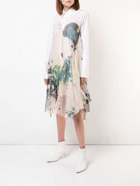 Kamperett Tanis Hand Painted Silk Organza Dress