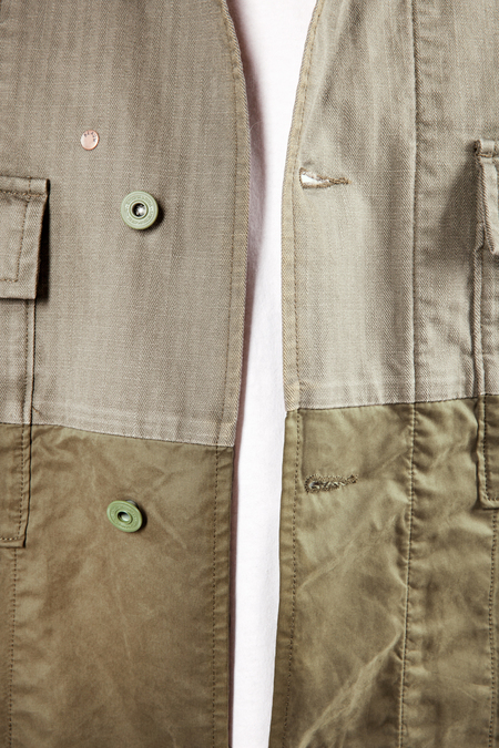 Scotch & Soda Military Shirt Jacket - Army Green