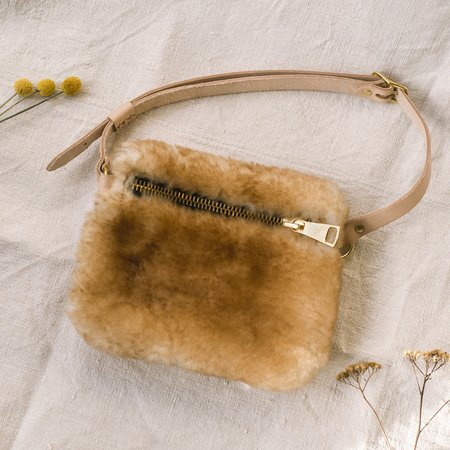 Your Bag of Holding Shearling Fanny Pack - Caramel