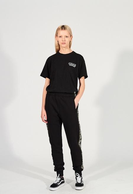 Unisex CHAENEWYORK Chae Taping Jogger Sweatpants - Black/Yellow