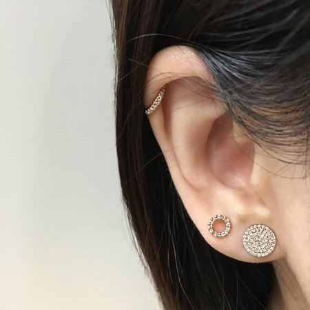 J. Luu Diamond Circle Earrings - Rose Gold