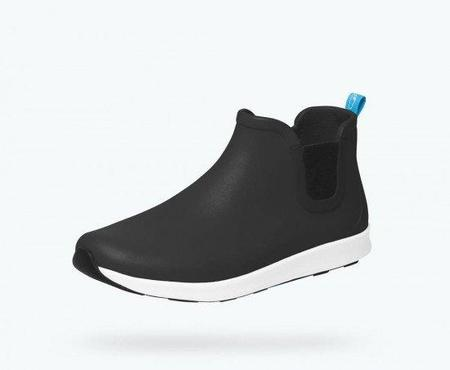 Native Shoes AP RAIN BOOT - JIFFY BLACK/SHELL WHITE