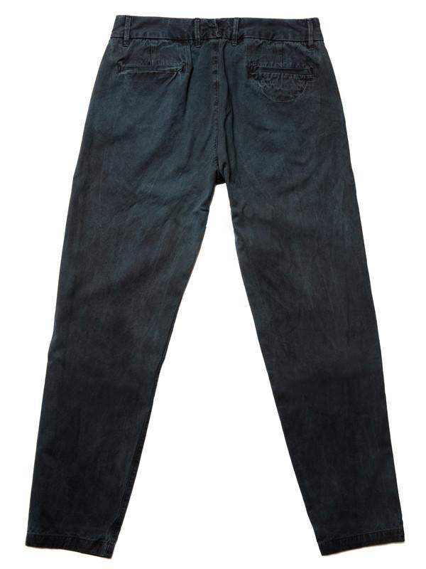 Olderbrother Gabardine Trouser | Black Indigo