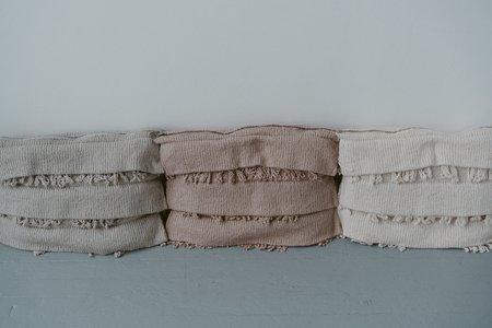 Wol Hide Fringe Pleat Pillow