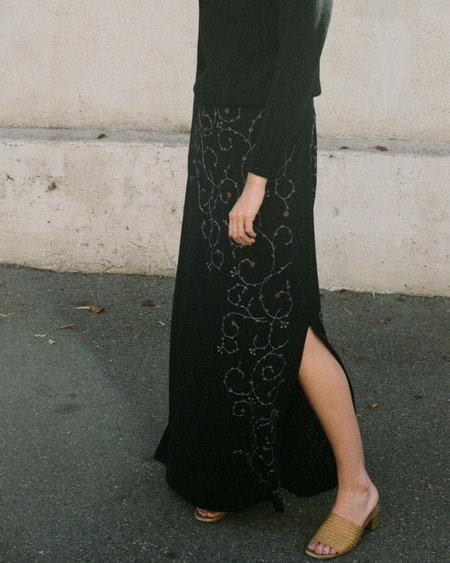 Peso Vintage Embroidered Dress - Nero