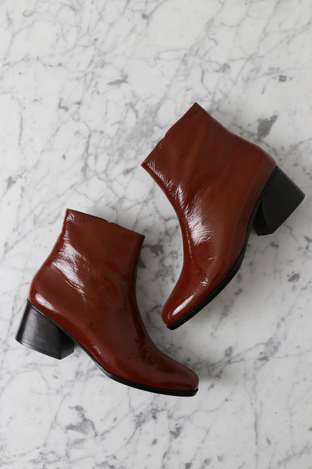 No.6 Jackson Ankle Boot - Tobacco Crinkle