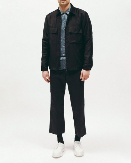 Maiden Noir Quilted Moleskin Shirt - BLACK