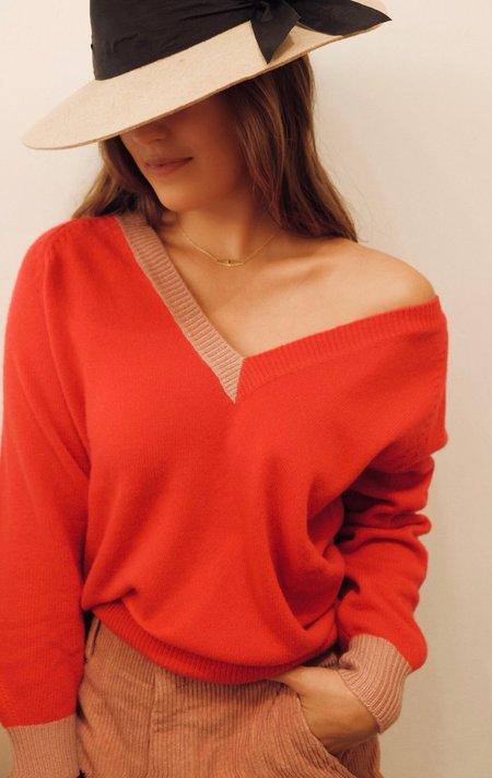 Pinko Color Block V Neck Sweater