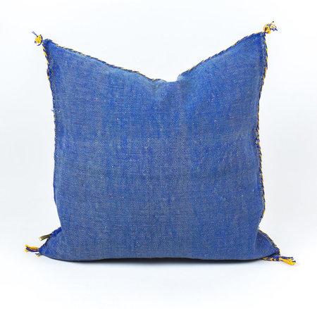 Bryar Wolf Cactus Silk Pillow - Blue