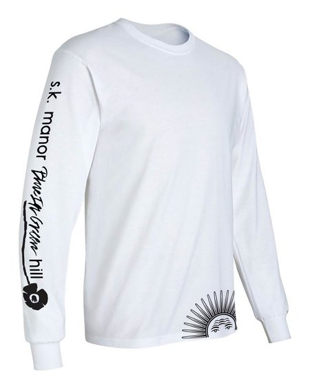 S.K. Manor Hill Long Sleeve Graphic T-Shirt - White