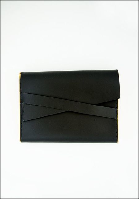 Industrial Jewelry Industrial Leather Clutch - GREY