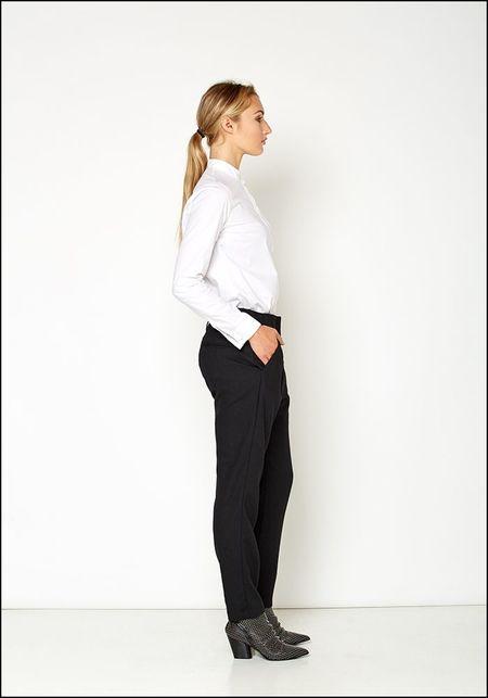 Even If Wool Tapered Leg Trouser - Black