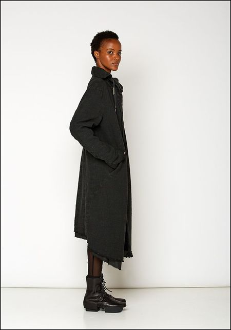 Army of Me High Collar Layer Coat - BLACK