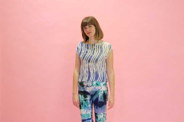 Osei-Duro Maena Shell Top in Waves