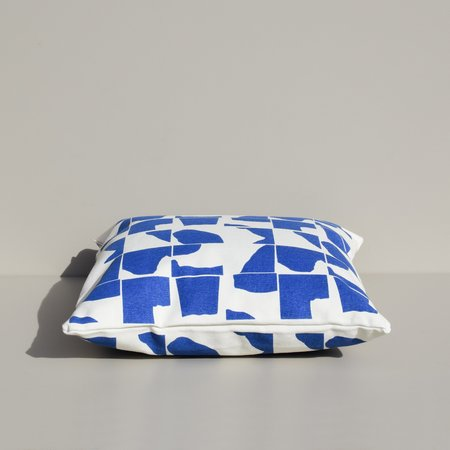 Yowie Printed Canvas Pillow - blue