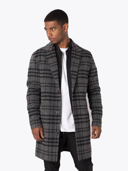 Zanerobe NY Melton Coat - Charcoal/Black