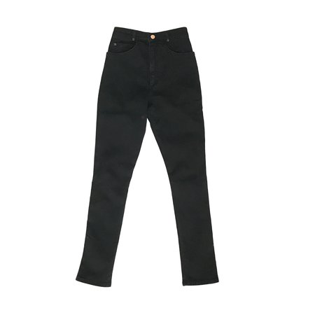 Judi Rosen High Waisted Skinny Stretch Jeans - Black