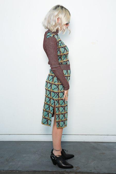 Alexa Chung Knit Pencil Skirt - Multicolor