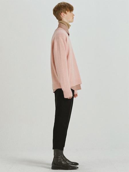 HALEINE V-neck Angora Knit - Pink