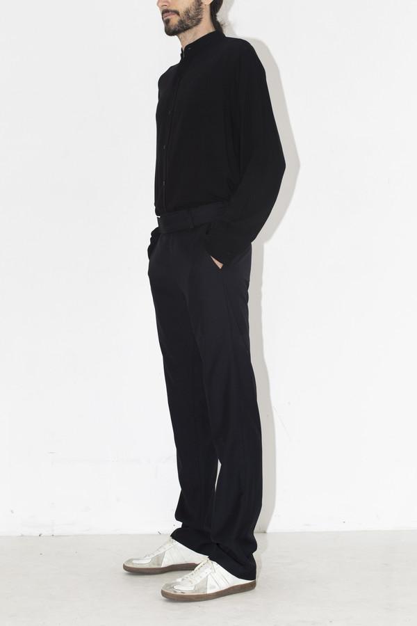 Men's Assembly New York Navy Cotton Elastic Pant