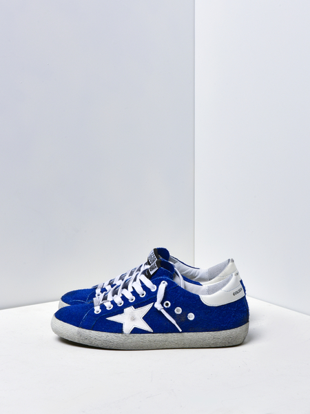 GOLDEN GOOSE DELUXE BRAND SUPERSTAR SNEAKER - BLUEBERRY/WHITE STAR