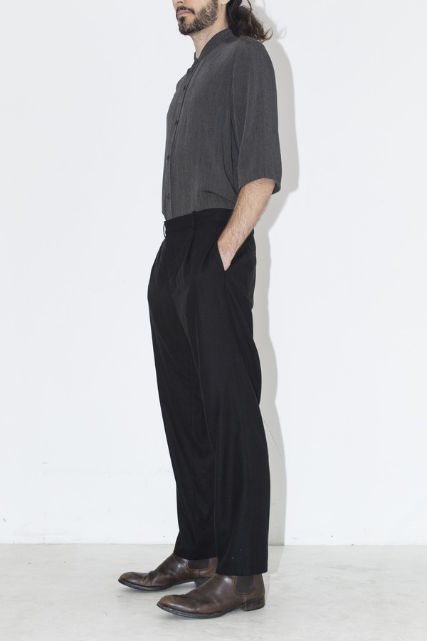Men's Assembly New York Raw Silk Pleat Pant