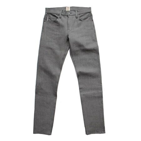 Kato Pen 4-Way Stretch Selvedge Denim - Grey