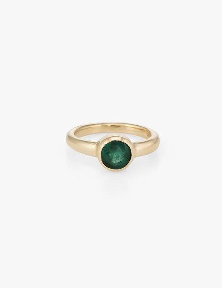 Kathryn Bentley Emerald Round Ring