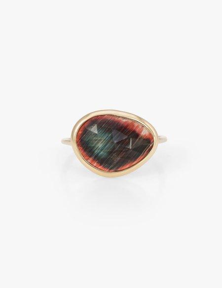 Kathryn Bentley Labradorite slice Ring