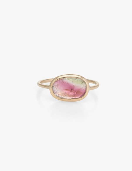 Kathryn Bentley Watermelon Tourmaline Slice Ring