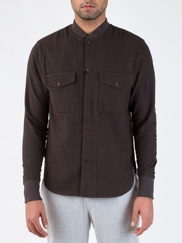 Men's YMC Cotton Wool Twill Rib Cuff Shirt