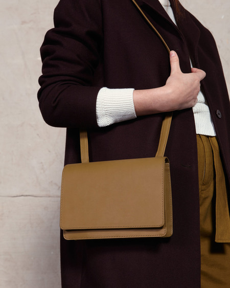 The Stowe Evelyn Nappa Shoulder Bag - Olive