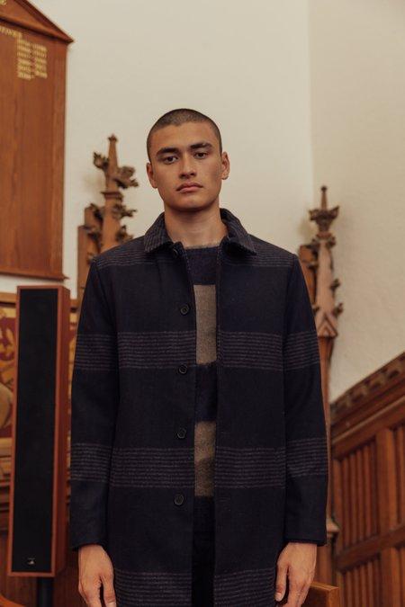 Native Youth Copley Overcoat - Stripe